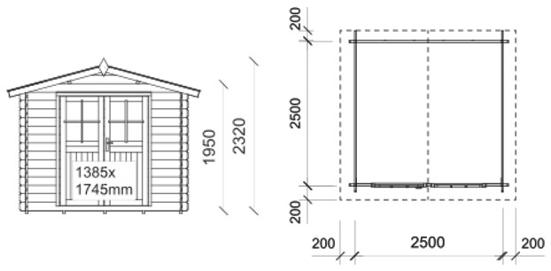Dimensioni casetta St.Moritz