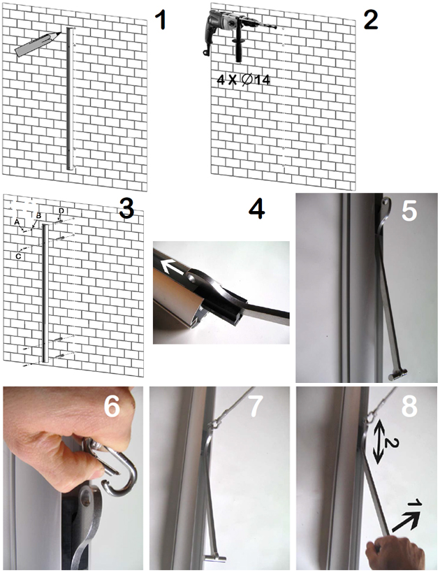 Staffa a parete