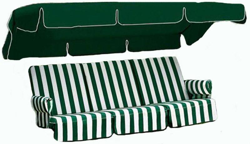 Kit di ricambio cuscini, tettino e appoggiabraccia per dondoli 4 posti by Scab