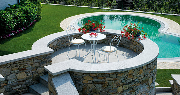 Tavolo in ferro rotondo BAVIERA da giardino Ø 90 x h74 cm colore bianco