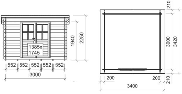 Dimensioni casetta top B