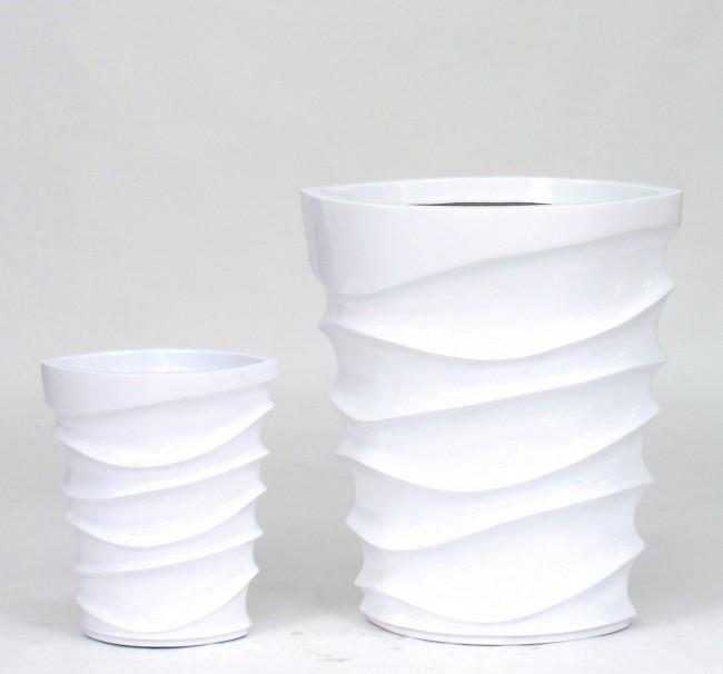 Vaso WAVE bianco lucido