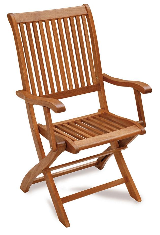 Sedia e poltrona pieghevole in legno di keruing ACERO