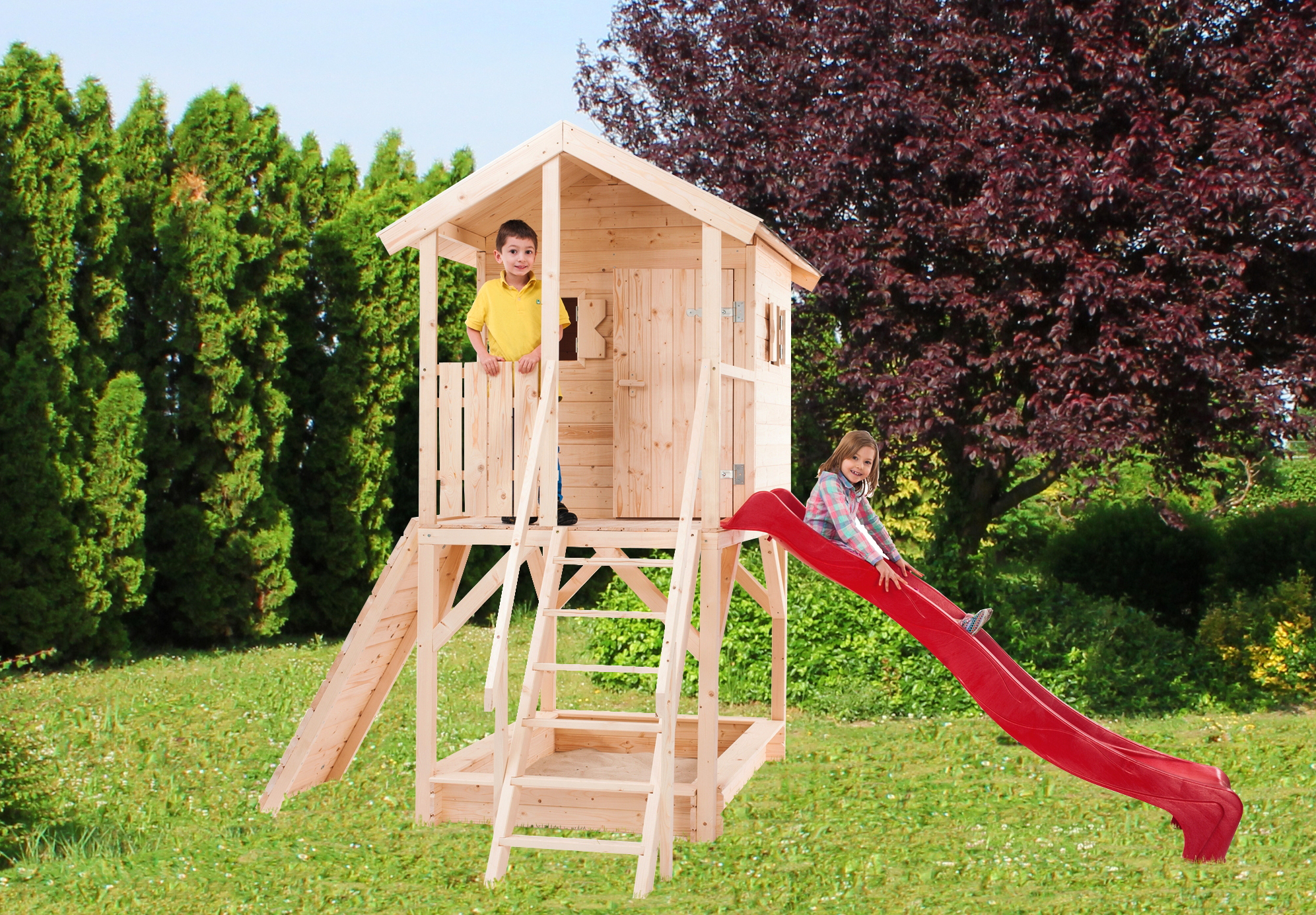 Casette Per Bambini In Legno : Casette in legno da giardino bcasa