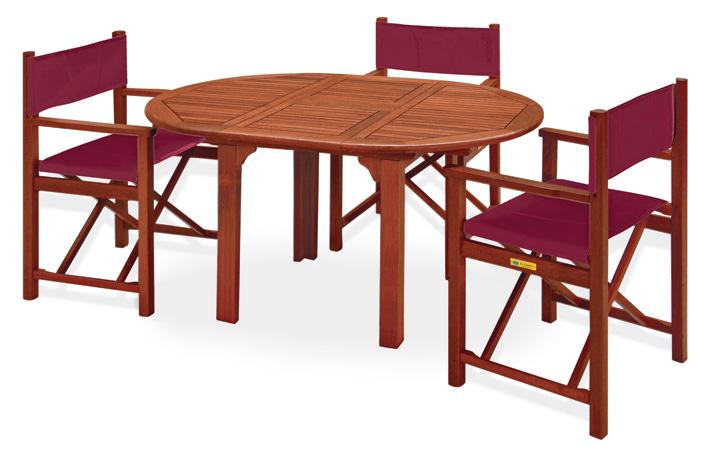 Set pranzo da giardino in legno AGAVE-LILIUM