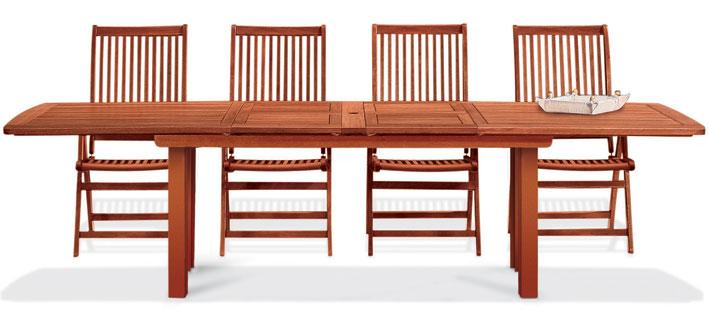 Set pranzo da giardino in legno CITRUS/ACERO