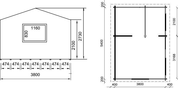 Dimensioni casetta in legno arkansas