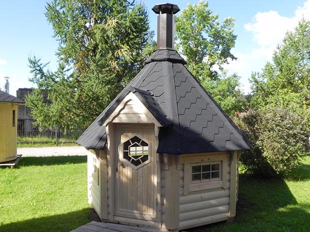 Casetta  in legno ARMONIA con barbecue