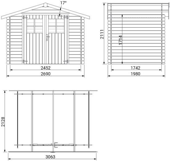 dimensioni casetta in legno Arve