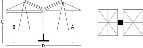Schema ombrellone Made in Italy