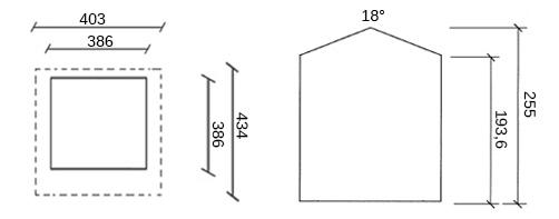 dimensioni casetta legno avalon