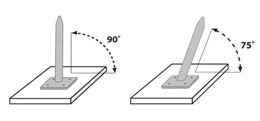 Basi per pali in alluminio per vele Regarden