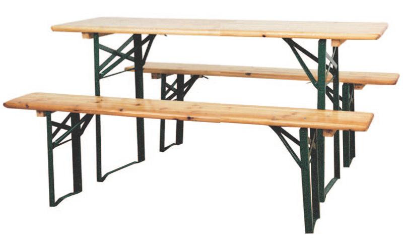 Set da pic nic pieghevole con 2 panche + 1 tavolo, vari dimensioni