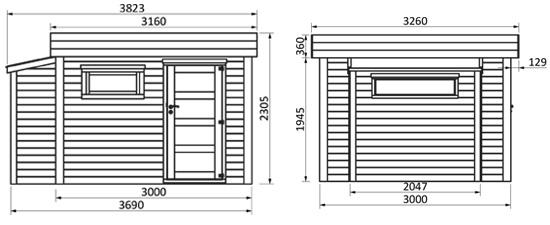 dimensioni casetta in legno brenna