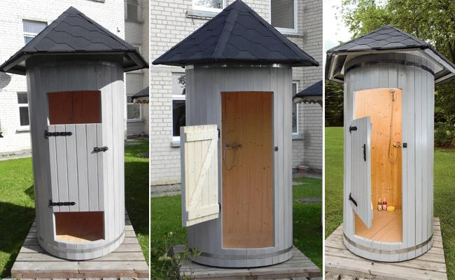 Cabina doccia da esterno TILLI in legno