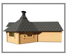 casetta con barbecue e sauna Dione