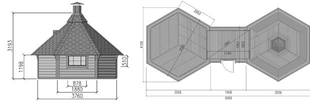 dimensioni casetta con barbecue CIBELE