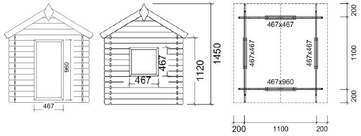 Casetta BIMBI in legno
