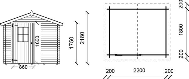 Dimensioni casetta in legno cinzia