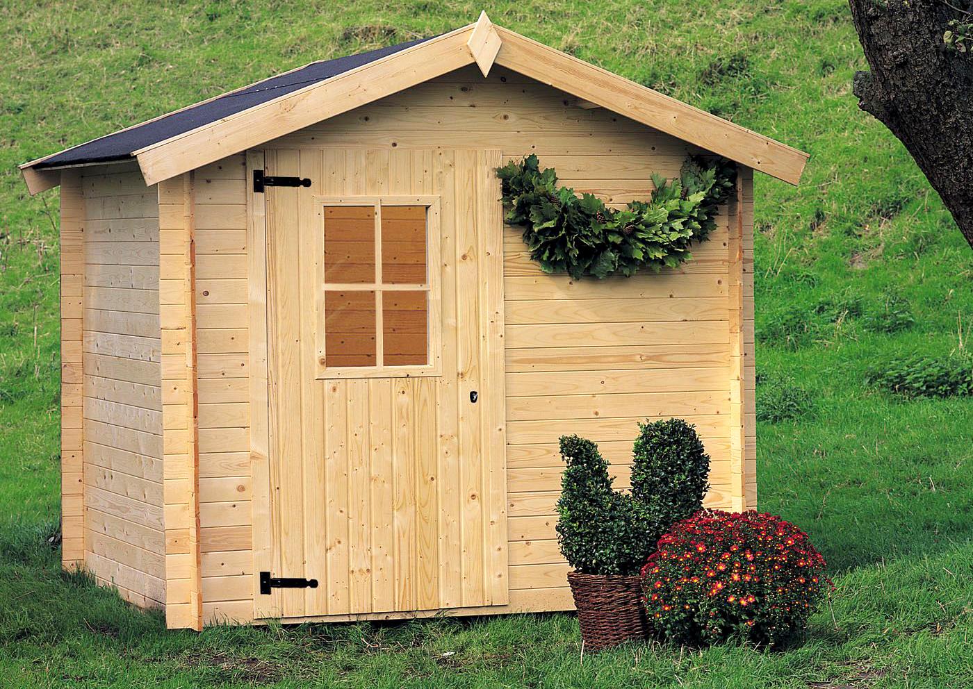 Casetta cinzia gartenpro in legno per giardino prezzo - Casetta in legno da giardino bianca ...