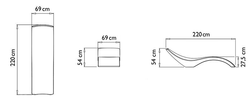 Dimensioni lettino CLOE by Myyour