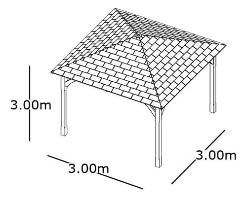 gazebo da giardino in legno canopy