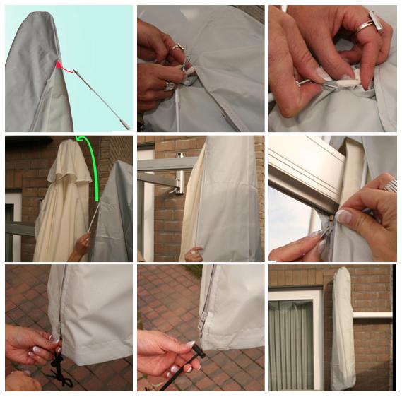 Palo e accessori per fissaggio Ombrellone PARAFLEX custodia