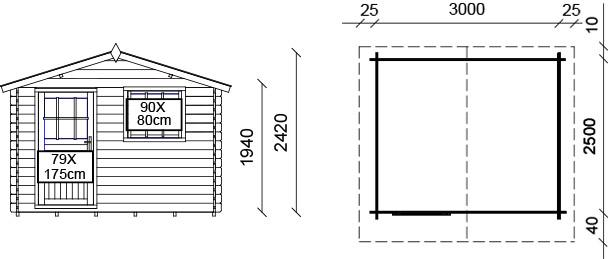 Dimensioni casetta dalia