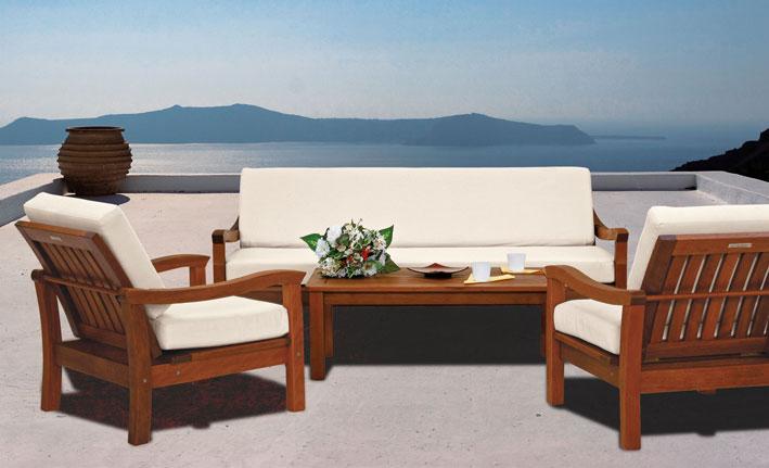 Salotto legno giardino il miglior design di ispirazione - Divanetto in legno per esterno ...