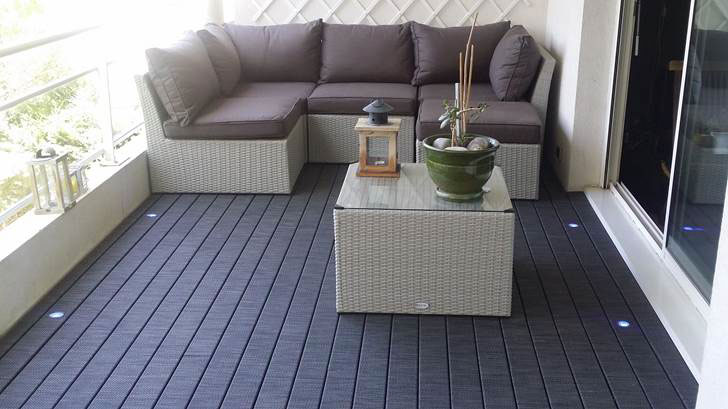 Listone in legno di pino HORTUS WOVEN per pavimenti esterni