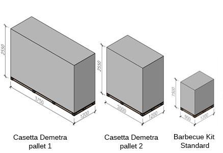 casetta in legno Demetra con barbecue e sauna