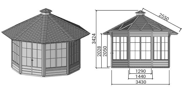 dimensioni casetta da giardino in legno febe