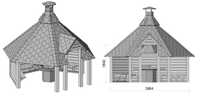 dimensioni casetta in legno Meti