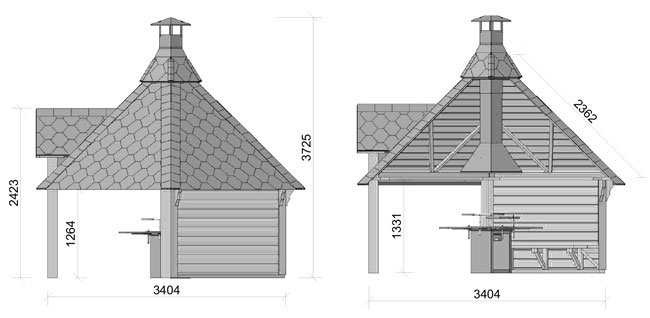 dimensioni casetta in legno