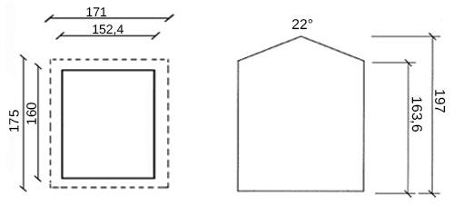 dimensioni casetta in legno kimber