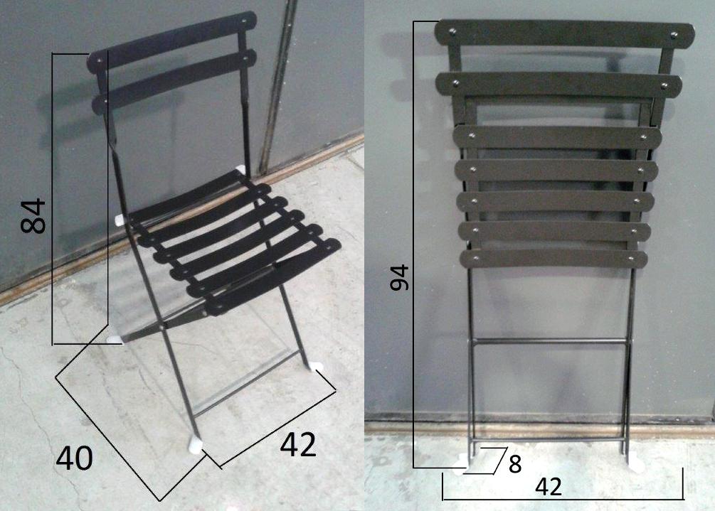 Sedia Lario in acciaio da esterno