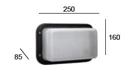 Plafoniera Da Esterno Rettangolare : Plafoniera per esterno da muro madrid rettangolare con mascherina