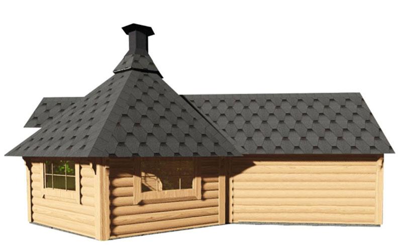 Casetta in legno con barbecue ERIS