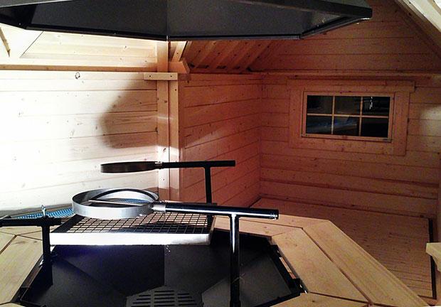 Casetta in legno ERIS con barbecue