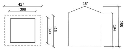dimensioni casetta legno eva