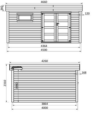 dimensioni casetta in legno evelyn