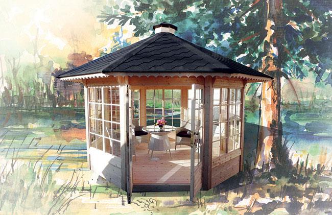 Casetta in legno FEBE da esterno