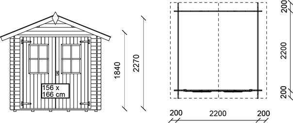 Dimensioni casetta Fina