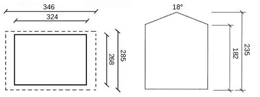 dimensioni casetta in legno fitroy
