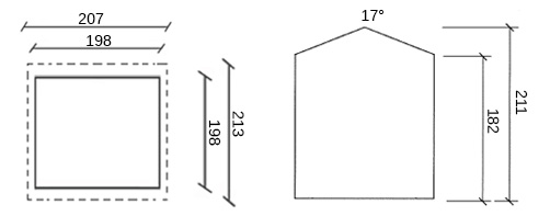 dimensioni casetta in legno floyd
