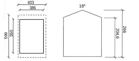 dimensioni garage in legno fortes