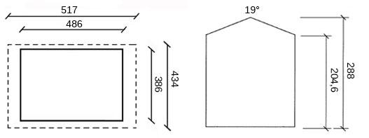 dimensioni casetta in legno foster