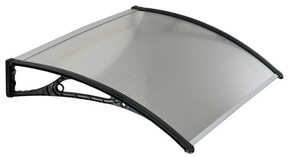 Pensilina in ABS 60 x 100 cm, copertura policarbonato alveolare trasparente