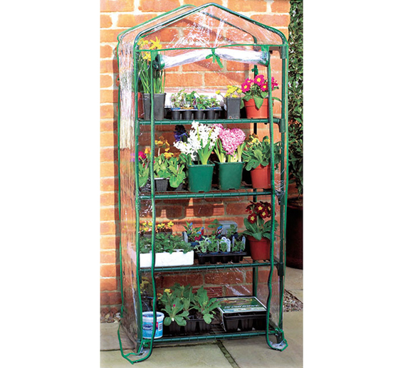 Serra per piante a quattro piani con copertura removibile in PVC