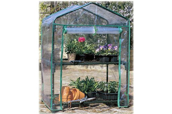 Serra per piante a due piani con copertura removibile in PVC
